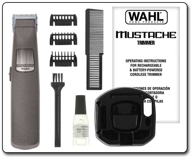 wahl 9906 2001 the mustache cordless battery operated beard and mustache trimmer. Black Bedroom Furniture Sets. Home Design Ideas