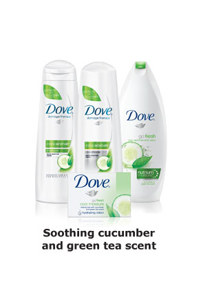 Dove® Damage Therapy Cool Moisture - Soothing cucumber and green tea scent