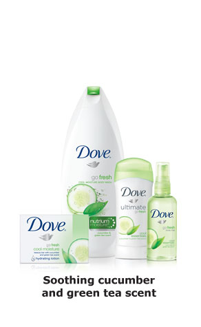 Dove® Go Fresh Cool Moisture - Soothing cucumber and green tea scent