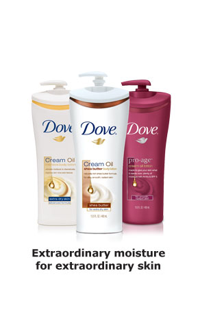Dove® Cream Oil - Extraordinary moisture for extraordinary skin