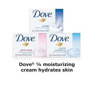 Dove® Beauty Bars - Dove® ¼ moisturizing cream hydrates skin