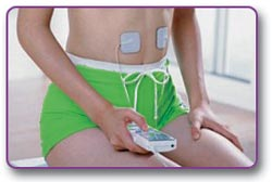 Lifeforce Electronic Pulse Massager PL009 in use