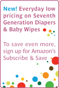 New! Everyday low pricing on Seventh Generation Diapers and Baby Wipesa€
