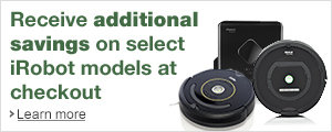 Additional Savings at Checkout on Select iRobot Products