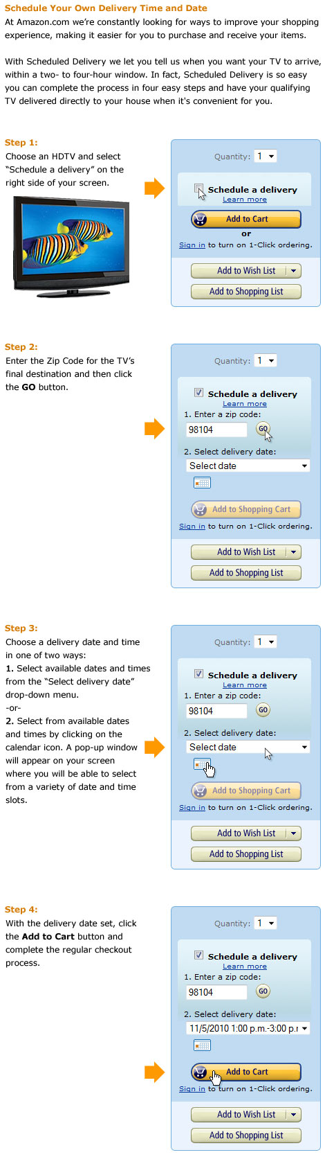Pick Your Own Delivery Time
