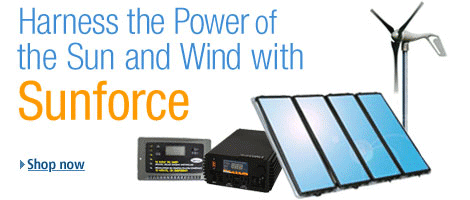 Harness the Power of Sun and Wind with Sunforce Renewable Energy Equipment -- Shop Amazon.com