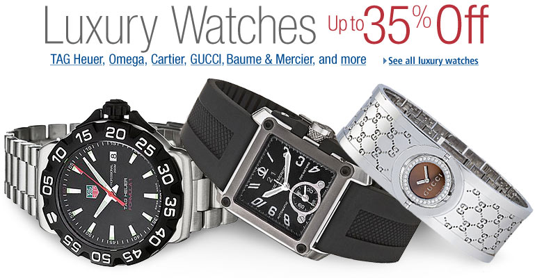 Up to 35% OFF Luxury Watches
