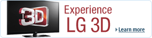 Experience LG Cinema 3D Technology: LG 3D home entertainment products
