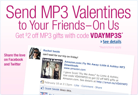 $2 Coupon for MP3 When You Send Songs To Your Friend