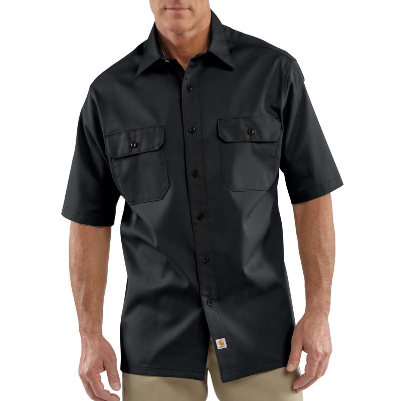 ... Work Shirt Short Sleeve Button Front: Button Down Shirts: Clothing