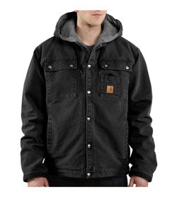 Carhartt Men's Tall Sandstone Hooded Multi-Pocket Jacket Product Shot