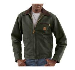 Men's Sandstone Detroit Jacket, Blanket Lined Product Shot