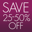 25% to 50% off