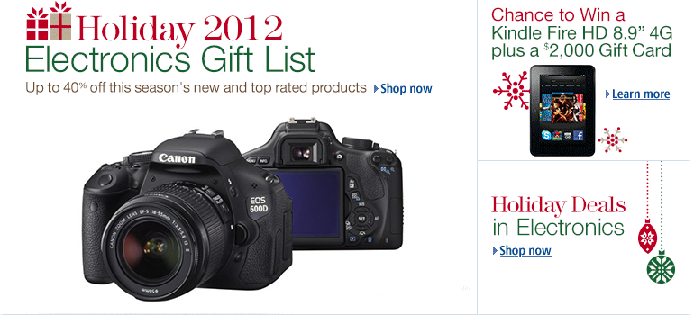 Holiday 2012 Electronics Gift List
