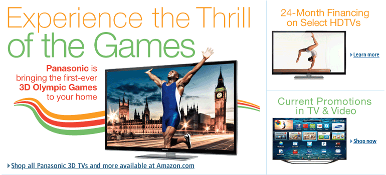 Shop all Panasonic 3D TVs and more available at Amazon.com