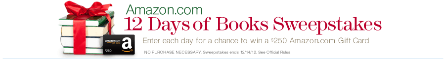 Amazon.com 12 Days of Books Sweepstakes