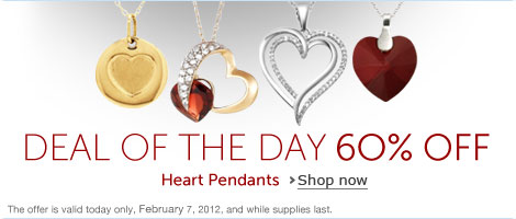 Deal of the Day: 60% Off Heart Pendants