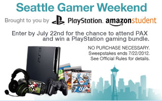 Amazon Seattle Gamer Weekend Sweepstakes