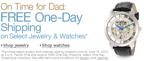 On Time for Dad: Free One-Day Shipping on Select Jewelry & Watches