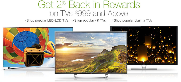 Get 2% Back in Rewards on Select TVs $999 and Above