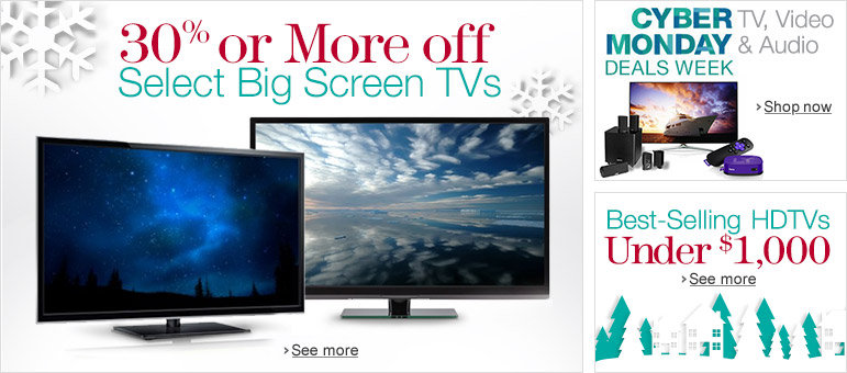 30% or More Off Select Big Screen TVs