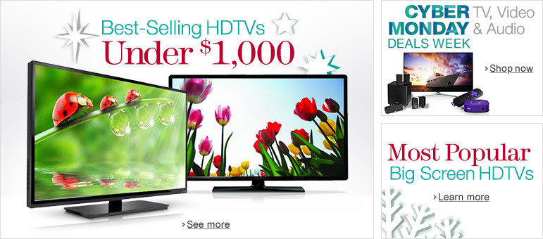 Best Selling HDTVs Under $1,000
