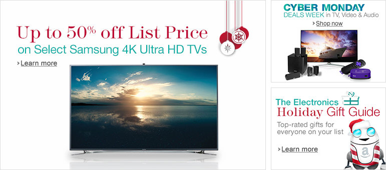 Up to 50% Off List Price on Select Samsung 4K Ultra HD TVs