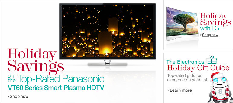 Holiday Savings on the Top Rated Panasonic VT60 Series Smart Plasma HDTV