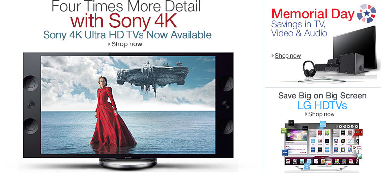 Sony 4K Ultra HD TVs Now Available