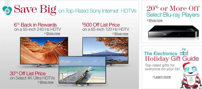 Save Big on Top-Rated Sony Internet HDTVs