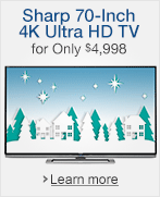 Sharp 4K Ultra HD TV for Under $4998