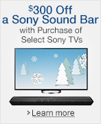 $300 Off a Sony Sound Bar with Purchase of Select Sony TVs