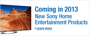New Sony Home Entertainment Products Coming in 2013
