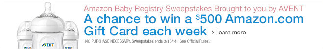 Baby Registry Sweepstakes Brought to You by AVENT