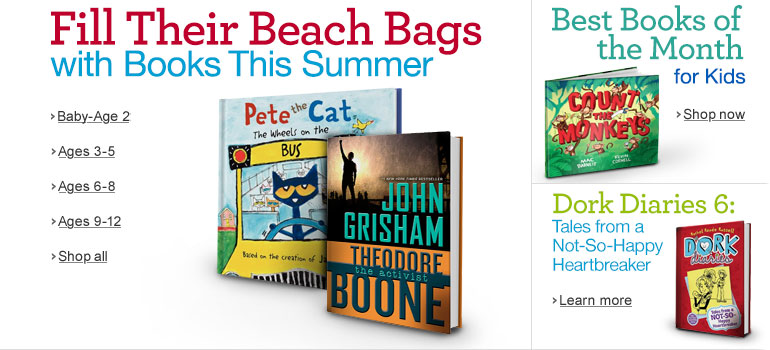 Fill Their Beach Bags with Books This Summer