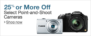 Save 25% or More on Select Point and Shoot Cameras