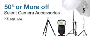 Save 50% or More on Select Camera Accessories