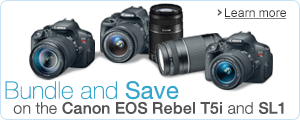 Canon EOS Rebel T5i and SL1 Bundles