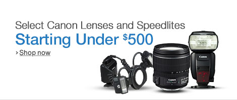 Deals on Canon DSLR Lenses and Flashes