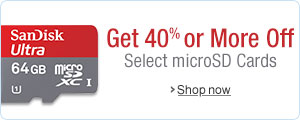 40% or More Off Select microSD