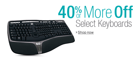 40% or More Off Select Keyboards