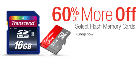 60% or More Off Select Flash Memory Cards