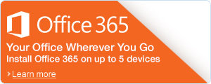 Microsoft Office 365: Install on up to 5 Devices