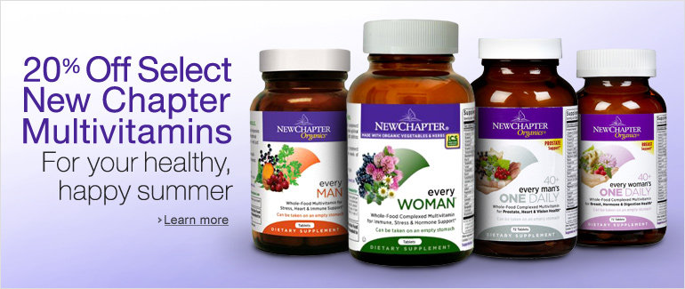 20% Off Select New Chapter Multivitamins