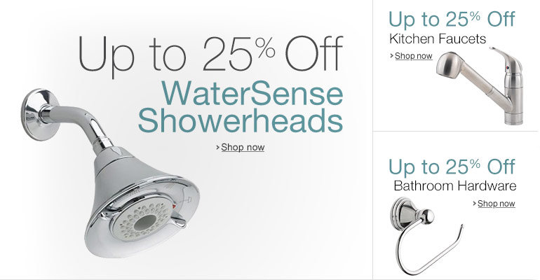 Up to 25% Off WaterSense Showerheads