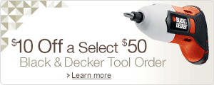 $10 Off a Select $50 Black & Decker Order