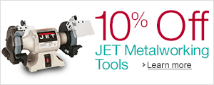 10% Off JET Metalworking Tools