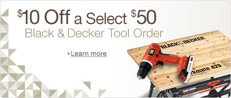 $10 Off a $50 Black & Decker Tools Purchase