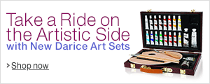 Take a Ride on the Artistic Side with New Darice Art Sets