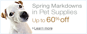 pet supplies markdowns
